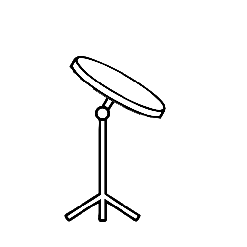 Drum practice pad cartoon image