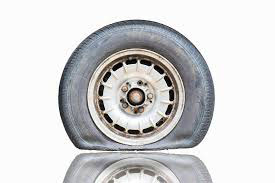 image of tire without air