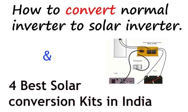 Convert normal inverter to solar inverter
