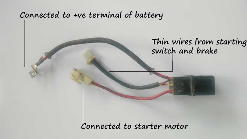 Starter relay diagram