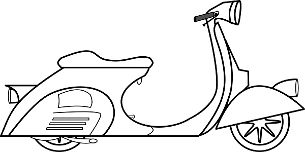 Simple image of scooter